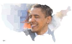 United Counties for Obama #illustration #photoshop #filter