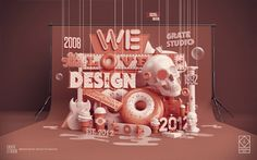 We Love Design on Behance #design #3d