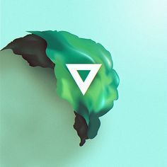 Short Stories on Behance #abstract #triangle #3d #green