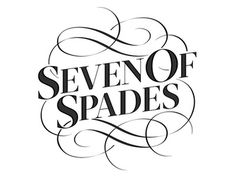 Seven of Spades - taken from The Type Deck!