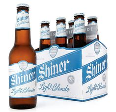 Shiner Light Blonde Bottles #packaging #beer #bottle