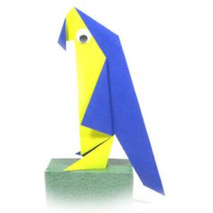 How to make a traditional origami parrot (http://www.origami-make.org/howto-origami-bird.php)