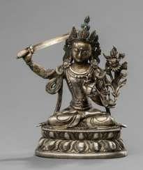 Manjushri made of silver