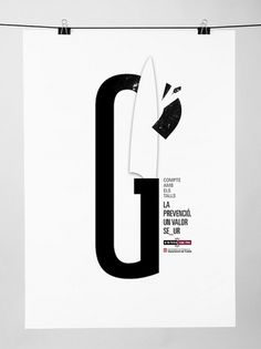 Segur #cut #print #design #illustrator #black #poster #knife
