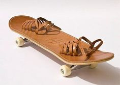 skateboard #wheels #shoes #straps #brown #skate #leather #skateboard