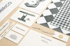 Baker D. Chirico | Design Graphique #black #identity #white #stationary