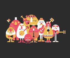 Volkoren11 #flyer #design #graphic #illustration #music #characters