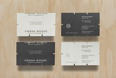 Vienna Woods by Anagrama #business #cards #print