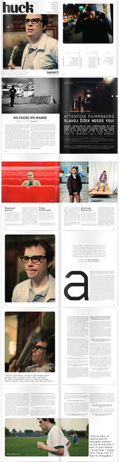 Huck Magazine #layout #magazine #typography