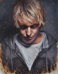 Derek Harrison – Self-Portrait #print #portrait #painting #oil