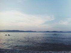 Blue sunset. #blue #sea #summer #calm #horizon #relax #greece