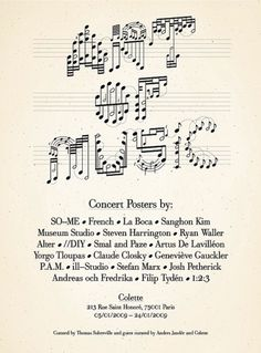 Museum Studio & Paper » Blog Archive » Art of Music Logotype & Invitations #music #type #poster