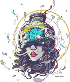 Poison Girl Illustration #illustration #portrait #girl #poison