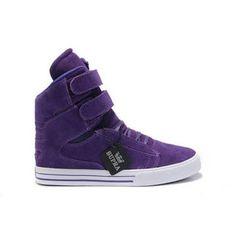 Supras Society Girls Justin Bieber Purple Suede Sneakrs