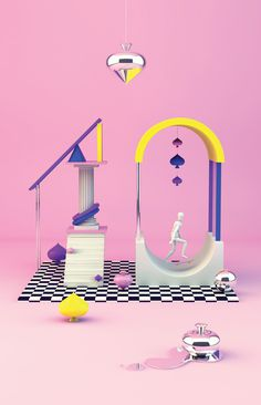 The Kitchen of Typography on Behance #design #3d