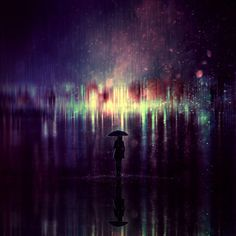 Night Light Rain #rain