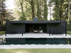 CD Poolhouse by Marc Merckx Interiors. #architecture
