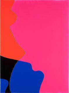 Peter Zimmermann – crossing, 2015, 150 x 110 cm, Epoxid auf Leinwand