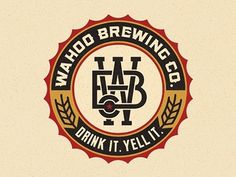 Dribbble - Wahoo Brew. Co. Final by Pavlov Visuals #beer #drink #brewing #yell #pavlov #logo #visuals