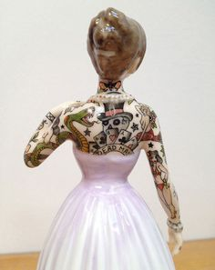 "Jessica Harrison ""Flash"" @ LJ Gallery, Paris: 14.jpg #tattoo #ceramic #customised"