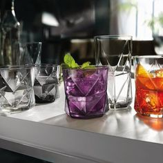 Cassiopea Faceted Glassware by Bormioli Rocco #tech #flow #gadget #gift #ideas #cool