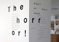 Heart of darkness - Lisle #type #experimental #wall #expressive #typography
