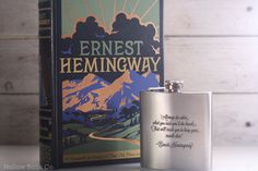 Hollow Book Safe and Hemingway Flask Ernest by HollowBookCo #ernest #flask #hemingway #book #hollow