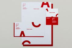 Spin — l'Atelier Camelia #red #business #card #print #head #letter #envelope #stationery