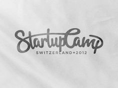Startupcamp switzerland #lettering