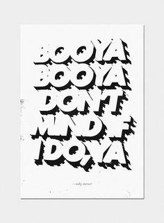 Booya #creative #design #lettering #typography