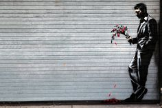 Image of Banksy Hits Hell's Kitchen's Hustler Club for #hell #graffiti #banksy #stencil #art #street #spray
