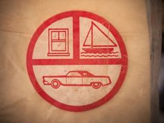 All sizes | Found on a garage shelf. | Flickr - Photo Sharing! #sailboat #print #design #graphic #icons #car