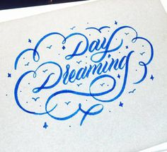 ☁️ Day Dreaming 🌧 - #lettering #typegang #crayola #letteringinspiration #calligraphy #handmadefont #type #daydreaming #typography #go