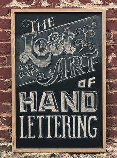 Hand Lettering #blackboard #lettering #chalk #typography