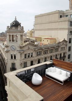 CJWHO ™ (Room Mate Pau Hotel, Barcelona) #design #architecture #white #landscape #spain #barcelona #view #interiors #luxury