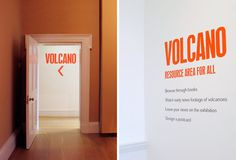 Volcano exhibition | Compton Verney | O-SB Design #exhibition #design #graphic #environment