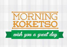 morning koketso #red #branding #africa #design #graphic #corporate #identity #logo #typography