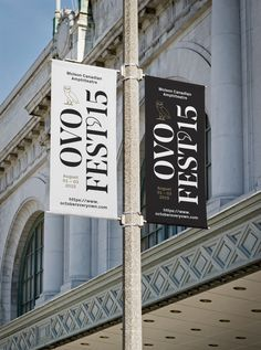 #banner #signage #typography #type #print #julestardy #ovo #festival