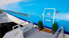 airbnb is offering the chance to spend a night inside a KLM plane... #airbnb