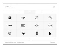 Elevn Co. / Elevn Co. Logos #white #design #minimalism #clean #website #grid #simple #mobile #web