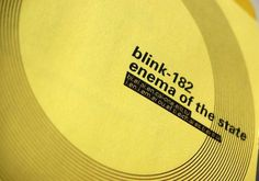 Rediseño CD blink-182 #music #cover #graphic #desig