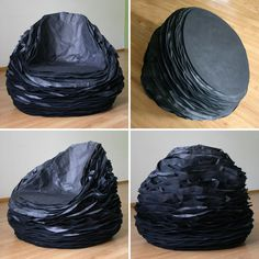 paper layers form the black paper 37 chair by vadim kibardin