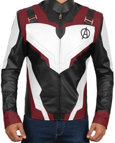 Avengers Endgame Captain America Cosplay Leather Jacket (2)