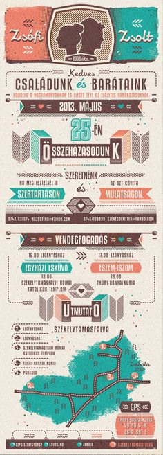 . #wedding #invitation #design #illustration #type #layout #cards