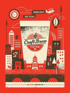 Iowa Craft Brew Festival Poster #illustration #art #silkscreen #digital