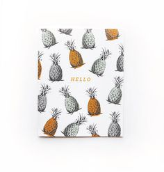 Pineapple hello card #pineapple #thank you #card #tropical #stationary
