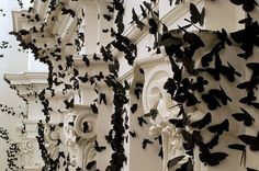 Black Paper Moths Cloud5 #interior #butterflies #art #paper #decoration