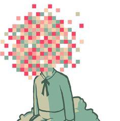 Pixel Boy - guapo #cloud #head #pixel #illustration #confused #surreal #static