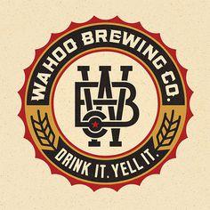 Wahoo Brewing Company Logo #logo #beer #typography