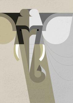 Retro Modern African Mammal Illustrations My Modern Metropolis